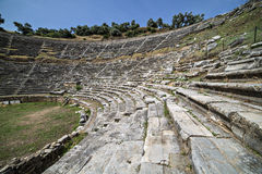 Amphitheatre of Nysa Ancient City in Aydin, Turkey Royalty Free Stock Photography