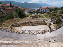 Amphitheatre, Ohrid, Macedonia Stock Images