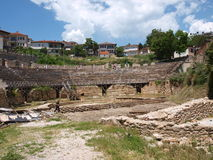 Amphitheatre, Ohrid, Macedonia Royalty Free Stock Images