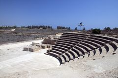Amphitheatre a Paphos Immagine Stock Libera da Diritti