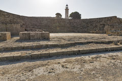 Amphitheatre in Paphos, Cyprus Royalty Free Stock Images
