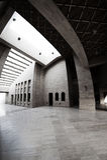 amphitheatre pod wioską kulturalny Doha Obraz Stock