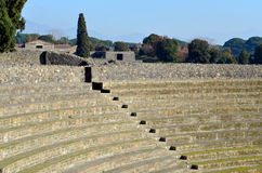 Amphitheatre of Pompeii, the Roman city Stock Image