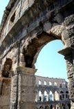 Amphitheatre in Pula. Roman arena in Pula, Croatia Stock Photos