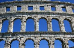 Amphitheatre in Pula. Roman arena in Pula, Croatia Royalty Free Stock Images