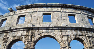 Amphitheatre, Pula photo stock