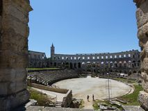 Colosseum Pula. Amphitheatre in Pula, ancient Roman Arena, Croatia, Istria Royalty Free Stock Photos