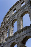 Amphitheatre in Pula, Croatia. One of the best preserved ancient Roman arenas (similar to the famous Colosseum in Rome) in Pula Stock Photography