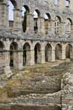 Amphitheatre in Pula, Croatia. One of the best preserved ancient Roman arenas (similar to the famous Colosseum in Rome) in Pula Royalty Free Stock Photo