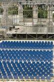 Amphitheatre in Pula, Croatia. Concert stage in ancient Roman arena in Pula, Croatia. Front view Stock Image
