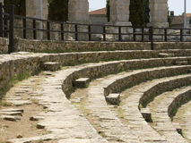 Amphitheatre in Pula, Croatia. One of the best preserved ancient Roman arenas (similar to the famous Colosseum in Rome) in Pula. Spectator's seats Royalty Free Stock Image