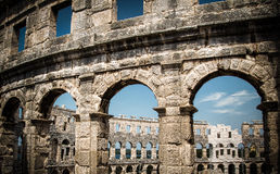 Amphitheatre in Pula,Croatia Royalty Free Stock Photo