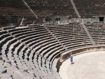 Amphitheatre, rijen van zetels Stock Foto
