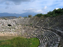 Amphitheatre romano imagem de stock