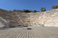 Amphitheatre romano antigo imagens de stock