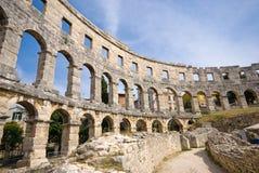 Amphitheatre romano antigo fotos de stock royalty free