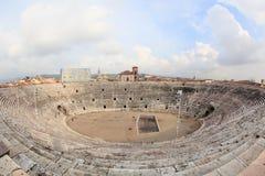 Amphitheatre romano de Verona fotografia de stock