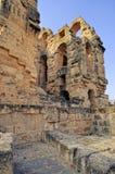 Amphitheatre romano do EL Jem imagem de stock