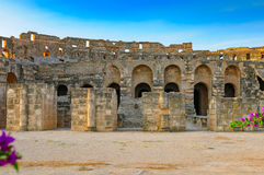 Amphitheatre romano do EL Jem fotografia de stock