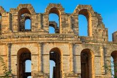 Amphitheatre romano do EL Jem fotos de stock royalty free