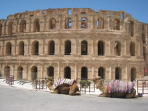 Amphitheatre romano - EL Djem imagens de stock