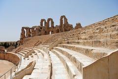Amphitheatre romano em Tunísia Fotos de Stock