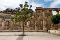 Amphitheatre romano en Amman, Jordania Imagen de archivo libre de regalías