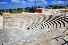 Amphitheatre romano en Kourion Fotos de archivo libres de regalías