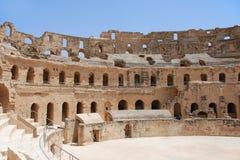 Amphitheatre romano en Túnez Foto de archivo