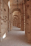 Amphitheatre romano en Túnez Imagenes de archivo