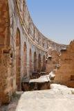 Amphitheatre romano en Túnez Foto de archivo libre de regalías