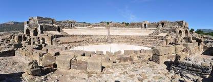 Amphitheatre romano, Italica, Spain foto de stock