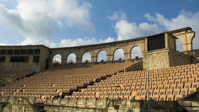 Amphitheatre romano no cais do pescador, Macao imagens de stock royalty free