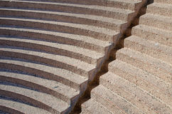 Amphitheatre seats. Seats in a ancient greek style Amphitheatre stock photo