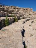 Amphitheatre in Segesta, Sicilië, Italië Royalty-vrije Stock Fotografie
