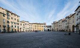 Amphitheatre Square lucca tuscany Italy europe Royalty Free Stock Photos