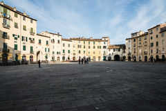 Amphitheatre square lucca tuscany Italy europe Stock Photography