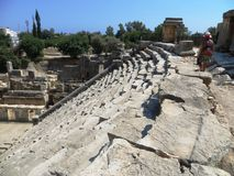 Amphitheatre stairs Sparta ancient Greece history archaeology Royalty Free Stock Images