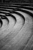 Amphitheatre steps. A closeup showing an abstract view of curving amphitheatre seats Stock Photos