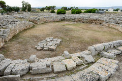 The amphitheatre of th ancient Roman ruins in Egnazia Stock Photos