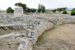The amphitheatre of th ancient Roman ruins in Egnazia Royalty Free Stock Images