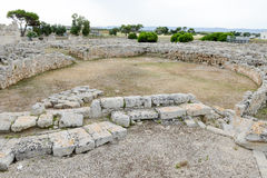 The amphitheatre of th ancient Roman ruins in Egnazia Stock Images