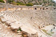 Amphitheatre in Turkey. This is the largest amphitheatre in Myra, a capital town of ancient Lycia. This amphitheatre is very attractive travel destination for Stock Photography