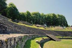 Amphitheatre van Autun stock foto's