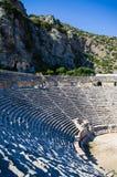 Amphitheatre van Myra, Turkije Stock Fotografie