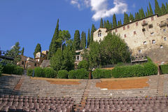 Amphitheatre van Romano Teatro in Verona, Italië Stock Afbeeldingen
