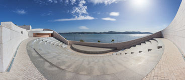 Amphitheatre with a view over the Tagus River on the Champalimaud Foundation Royalty Free Stock Photography