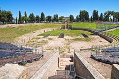 Amphitheatre von Lucera. Puglia. Italien. Lizenzfreie Stockfotografie