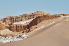 Amphitheatre w księżyc dolinie, Atacama pustynia, Chile Obrazy Stock