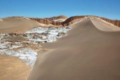 Amphitheatre w księżyc dolinie, Atacama pustynia, Chile Obrazy Royalty Free